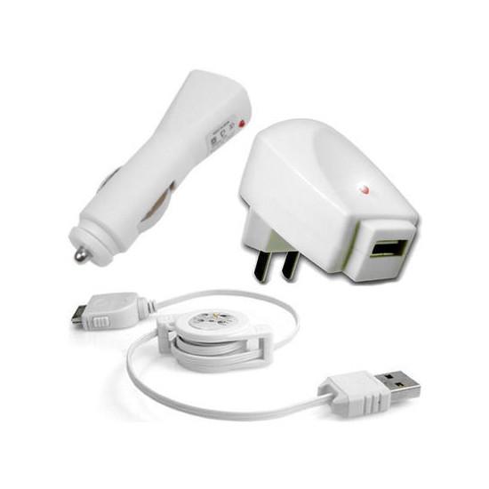 iPod 3 i 1 Lader / Datakabel - Hvid