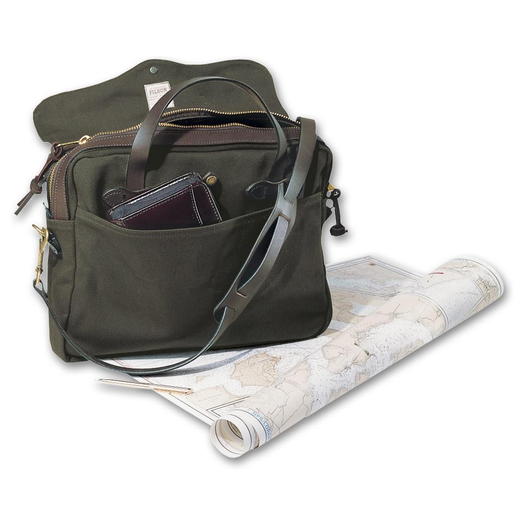 """Filson Original Briefcase Op til 16"""" - Otter Green"""