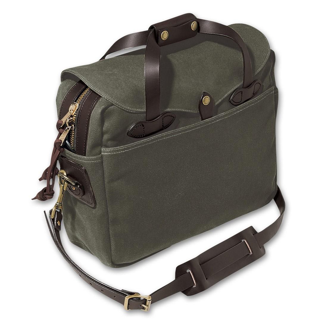 """Filson Large Briefcase / Computer Case Op til 16"""" - Otter Green"""