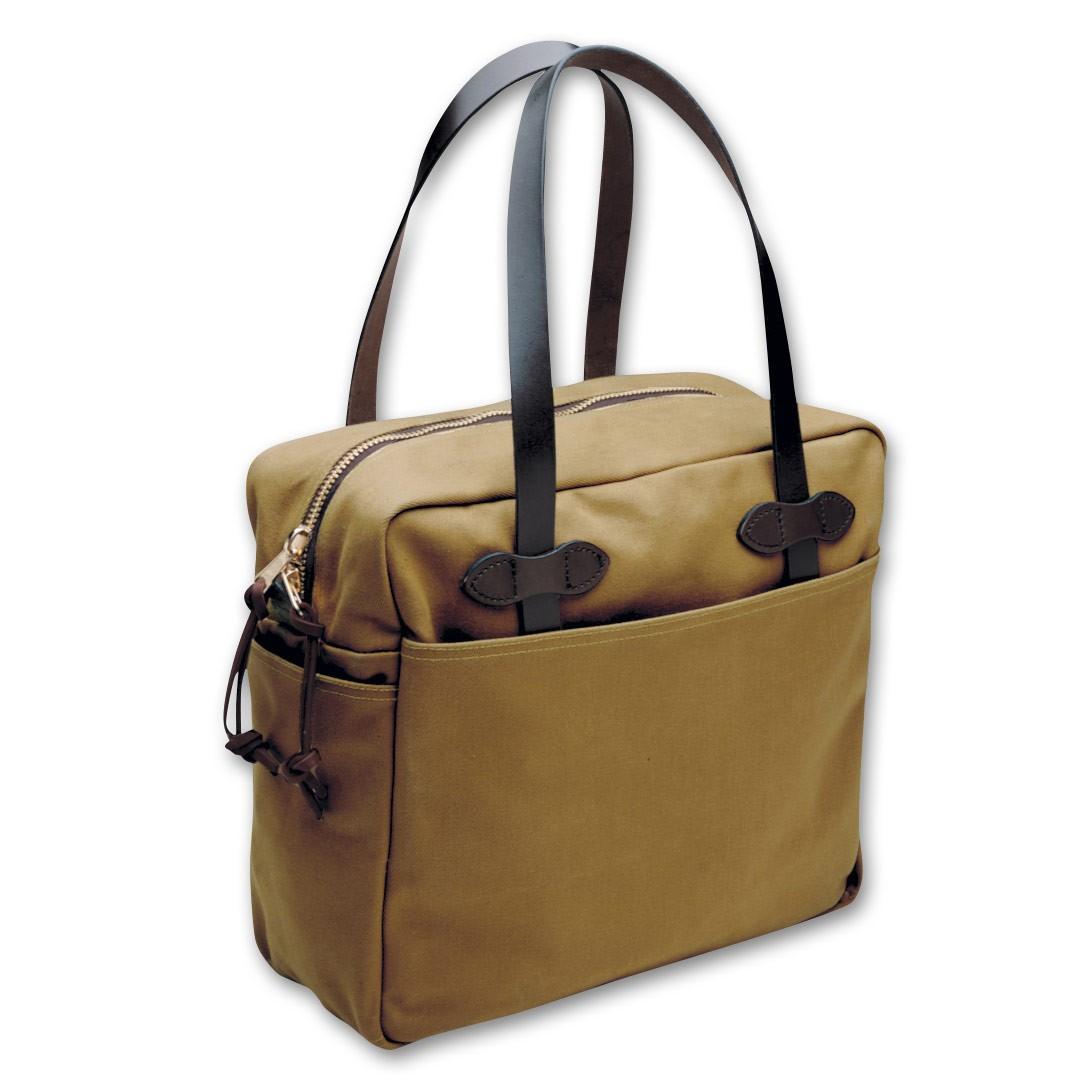 Filson Zippered Tote Bag - Dark Tan