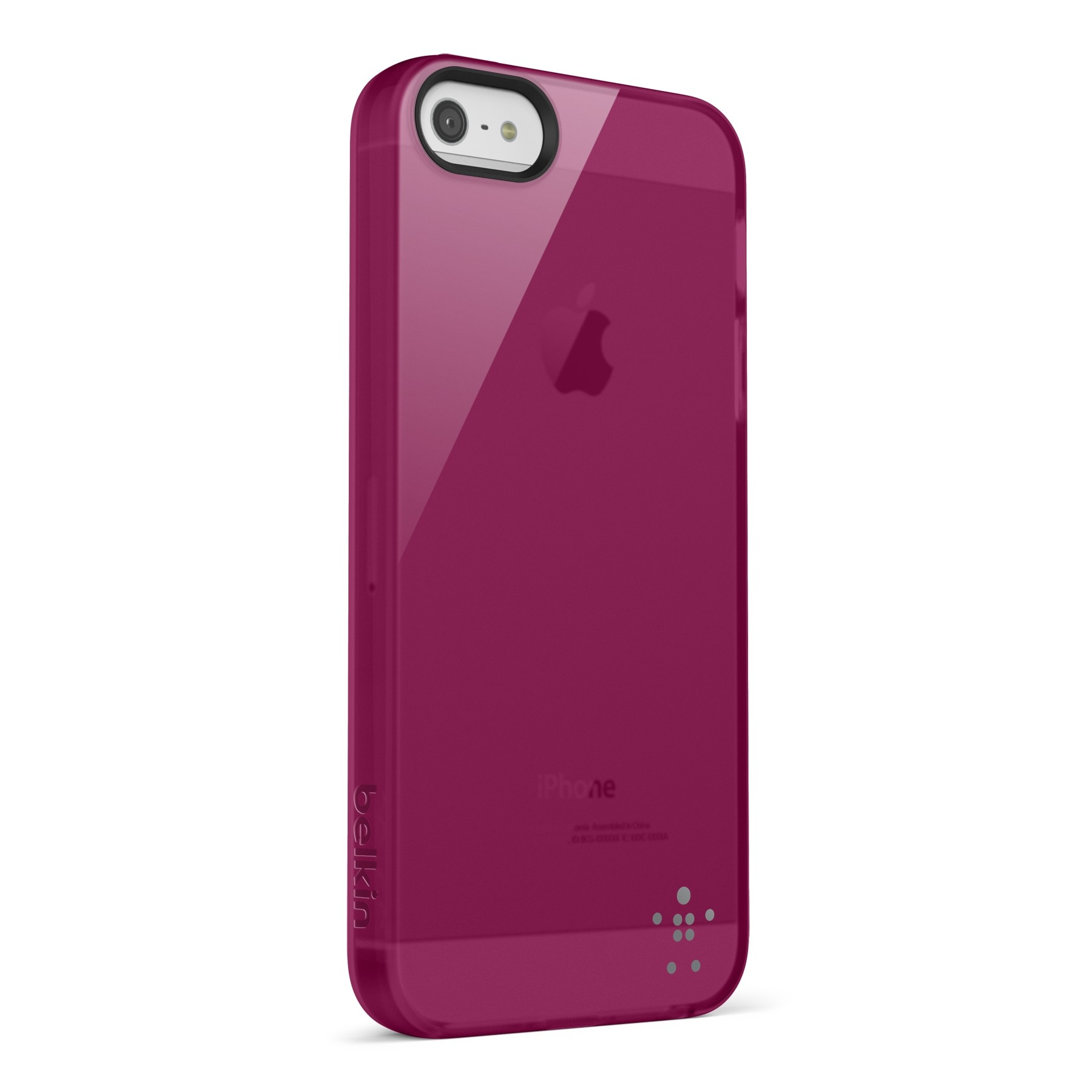 Belkin Grip Sheer Blacktop Case til iPhone 5 - Magenta