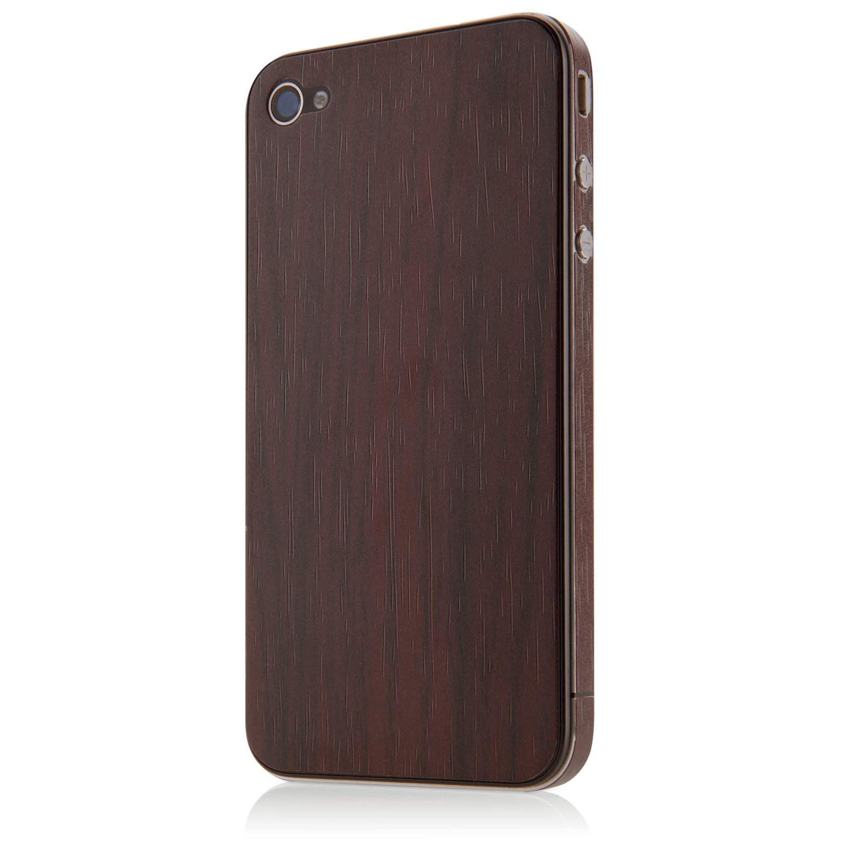 Belkin Wood Grain Sticker til iPhone 4/4S - Walnut