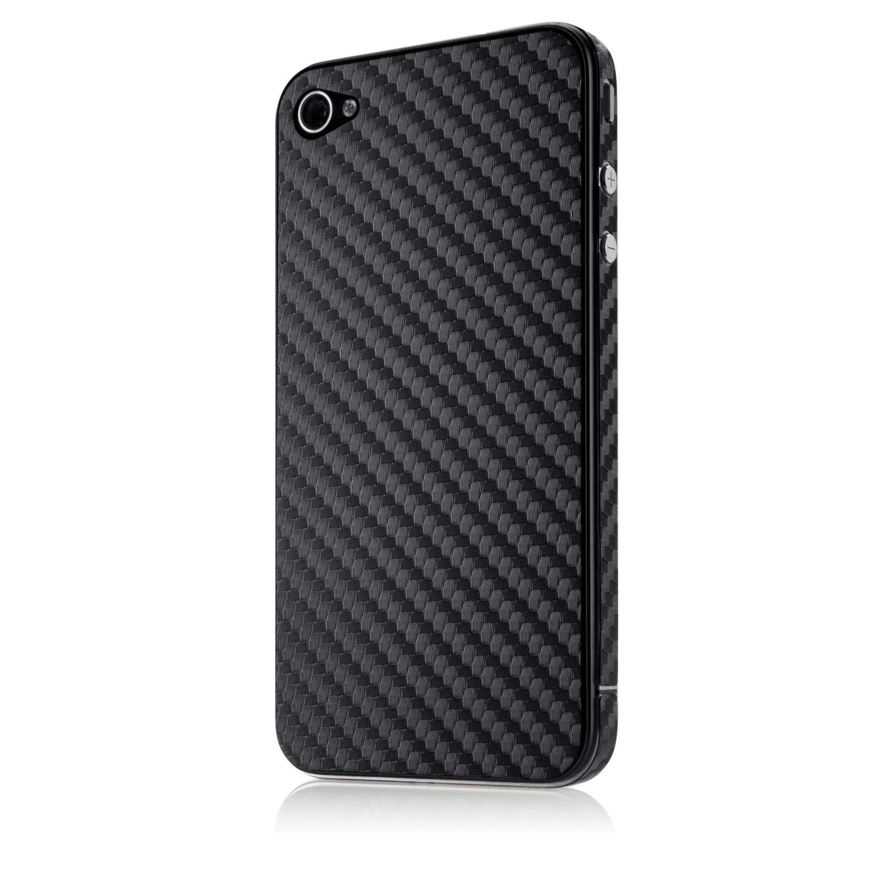Belkin Carbon Fiber Sticker til iPhone 4/4S - Sort