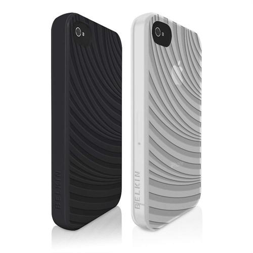 Belkin Case Groove Etui / Cover til iPhone 4S / 4 (2-Pak) - Sort & Hvid