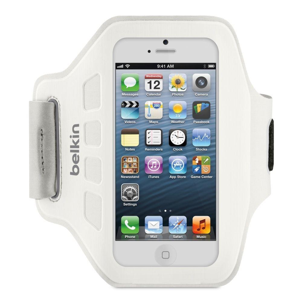 Belkin Easefit Sport Løbearmbånd til iPhone 5 / Touch - Hvid