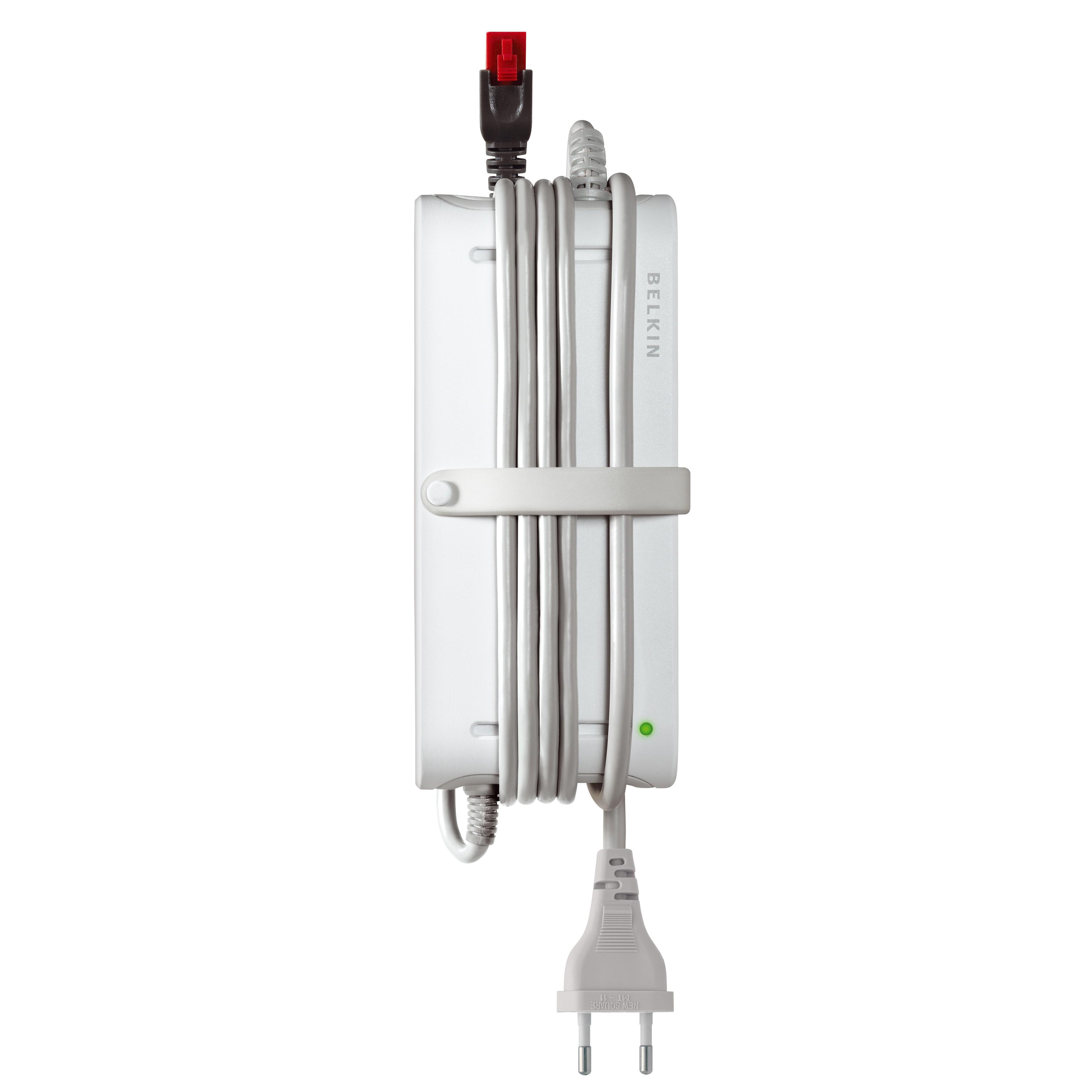 Belkin Universal Bærbar Strømforsyningsadapter m/ USB Port - Hvid
