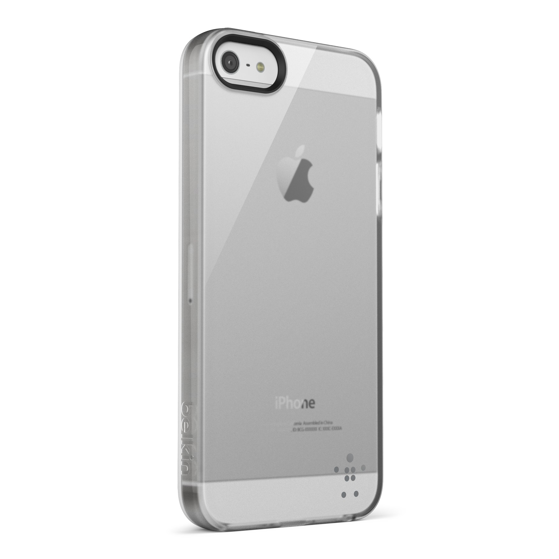 Belkin Grip Sheer Blacktop Case til iPhone 5 - Transparent