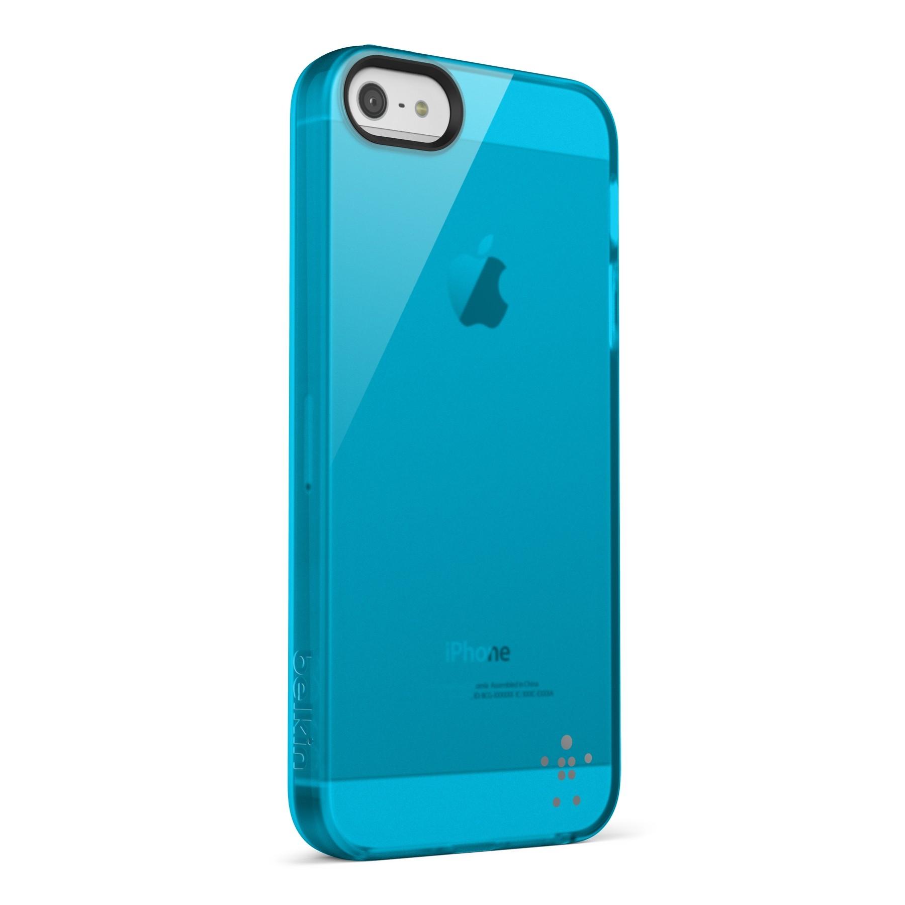 Belkin Grip Sheer Blacktop Case til iPhone 5 - Blå