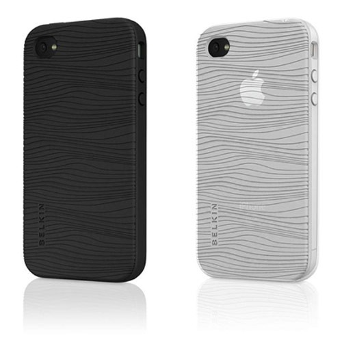 Belkin Grip Groove Duo Etui / Cover til iPhone 4 2-Pak - Sort / Hvid