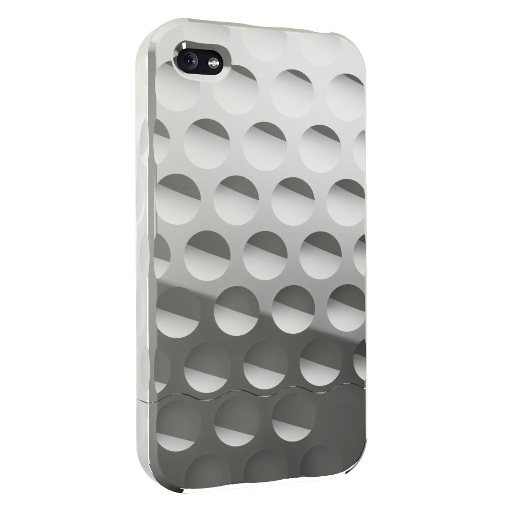 Bubble Slider Chrome Case til iPhone 4 - Krom