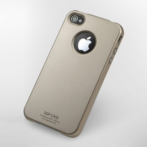 SGP iPhone 4 Case Ultra Thin m/ Screen Protector - Champagne