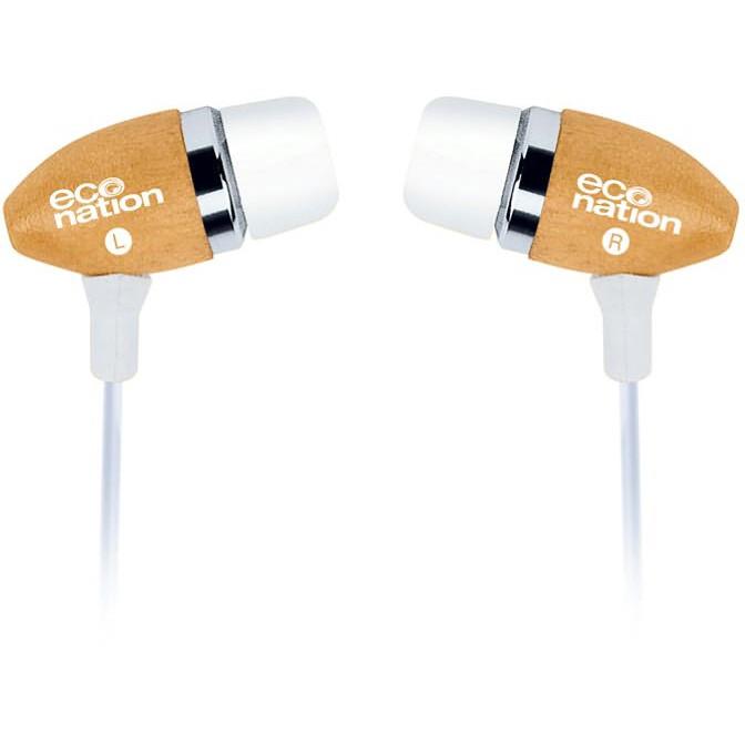 Eco Nation Miljøevenlige Træ Høretelefoner