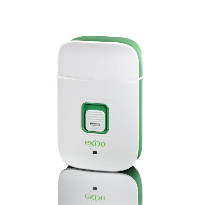 Exido Care Genopladelig Elektrisk Rejse Shaver USB - Hvid/Grøn