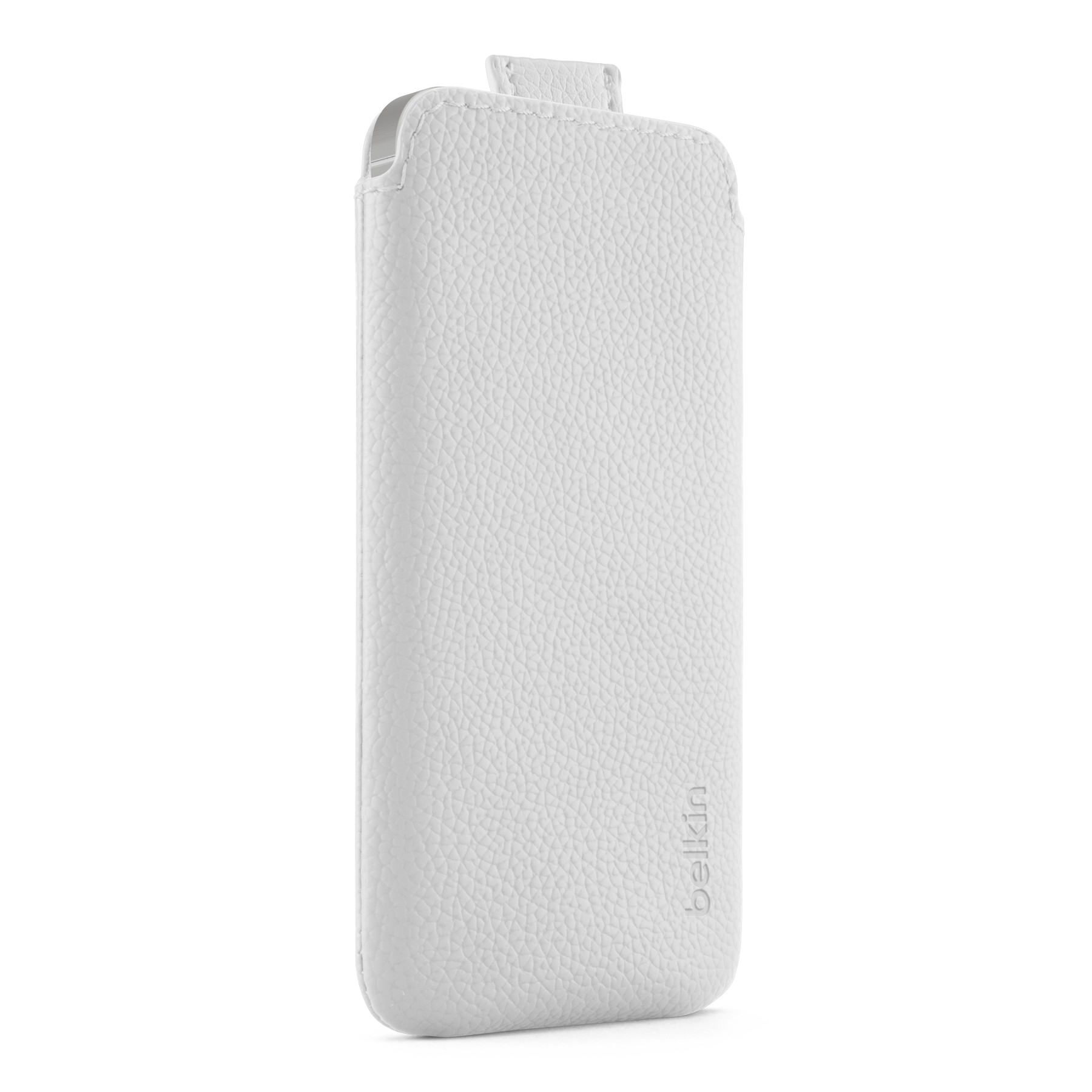 Belkin Pull Tab Læder Etui til iPhone 5 - Hvid