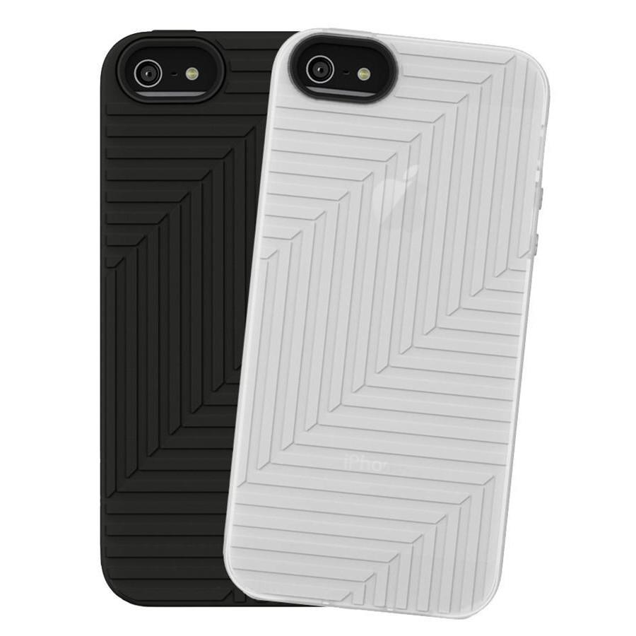 Belkin Silicon Case 2-Pak til iPhone 5 - Sort & Transparent