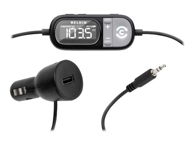 Belkin Tunecast Auto Universal FM Transmitter m/ Clearscan - Sort