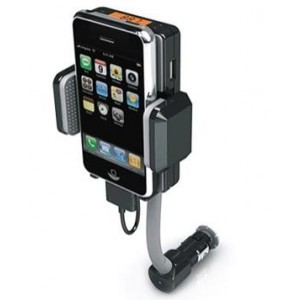 iPhone / iPod HandsFree Kit & FM Transmitter Bil Holder