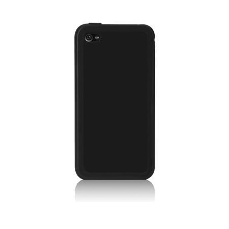 Apple iPhone 4 Cover af tykt gummi - Sort