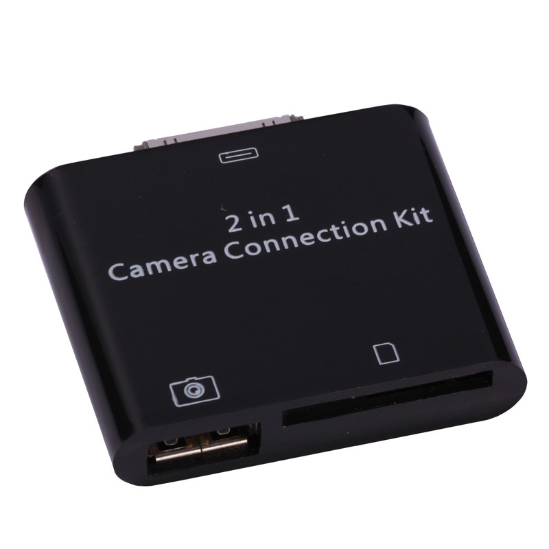 2-in-1 Camera Connection Kit til iPad / iPad 2 SD & USB - Sort