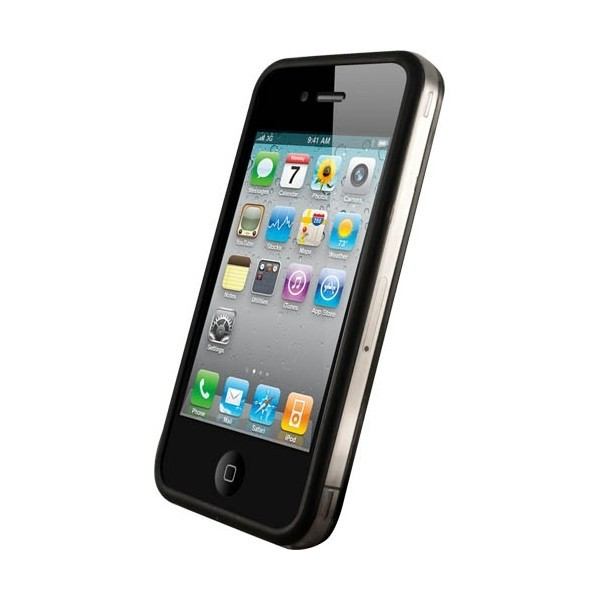 iPhone 4 / 4S Bumper Case - Sort & Transparent