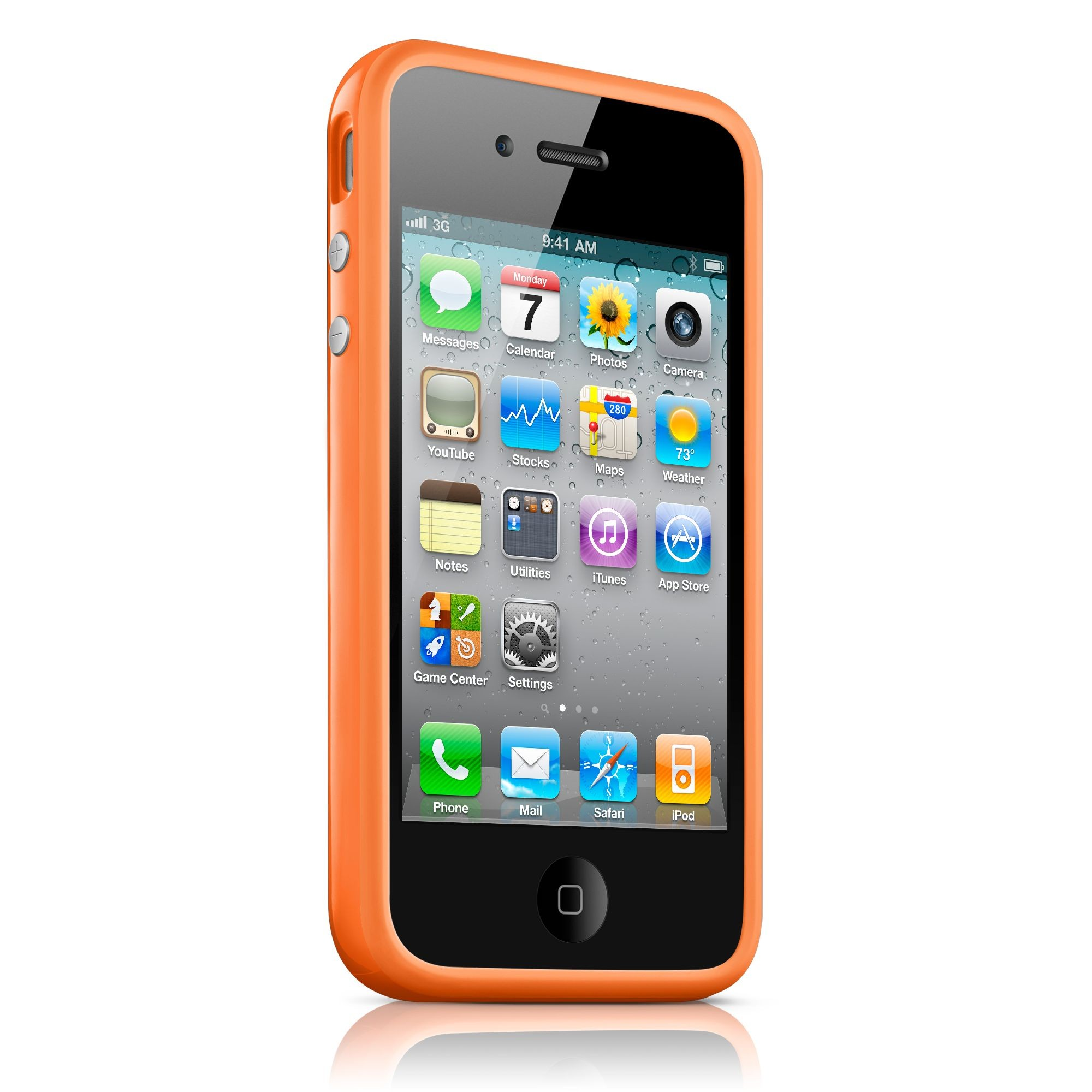 iPhone 4 / 4S Bumper Case - Orange