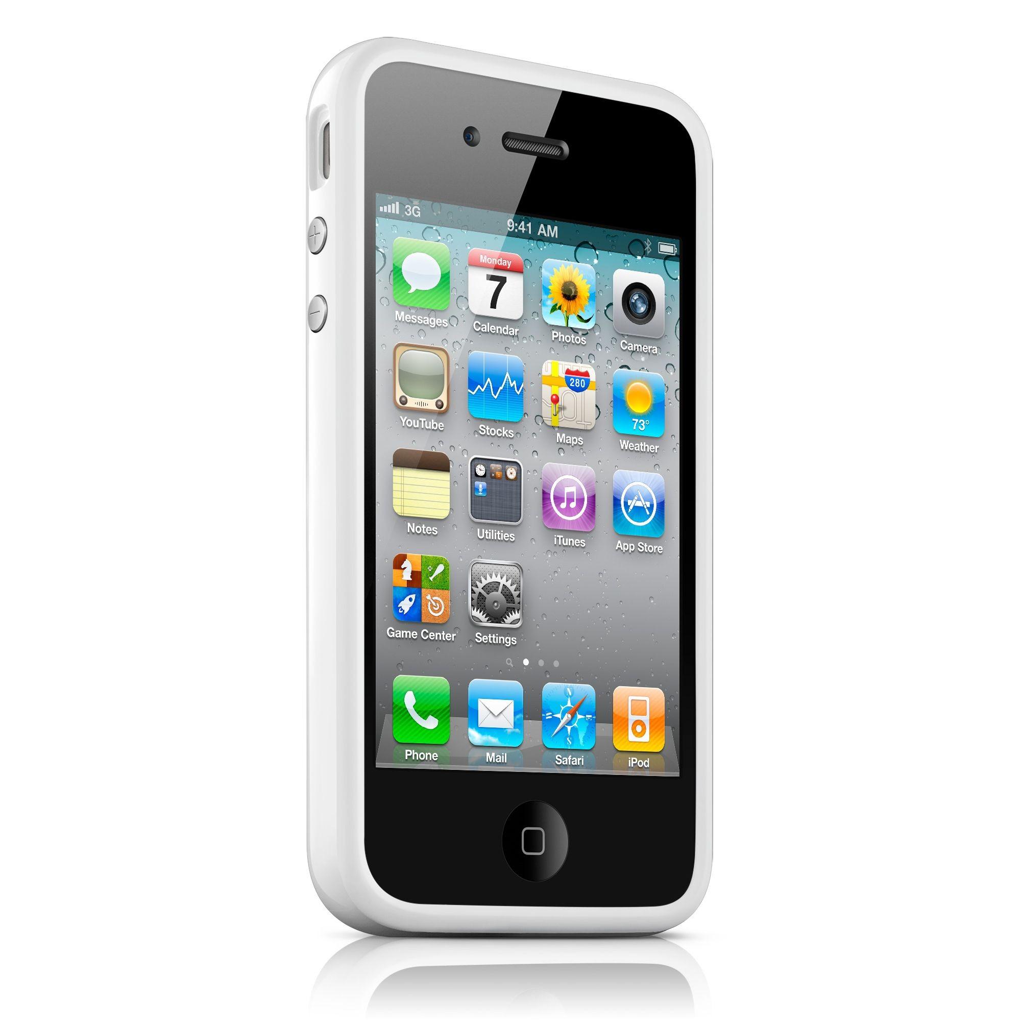 iPhone 4 / 4S Bumper Case - Hvid