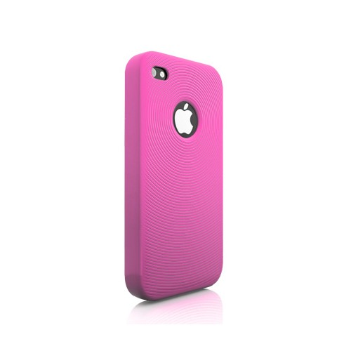 Swirling Silikone Cover til iPhone 4 - Pink