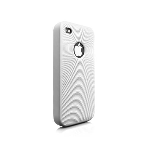 Swirling Silikone Cover til iPhone 4 - Hvid