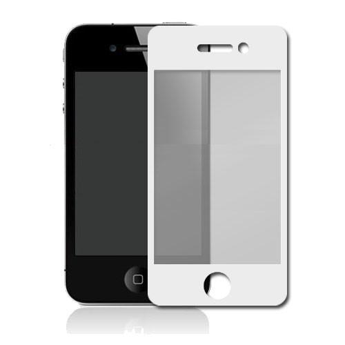 Hvid Sticker / Beskyttelsesfilm til iPhone 4 - Front & Bagside