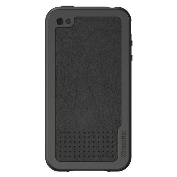XtremeMac Læder Case til iPhone 4 Inkl. Skærmfolie - Sort