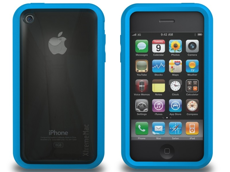 XtremeMac Microshield Accent iPhone 3G/3GS Inkl. Skærmfolie - Blå