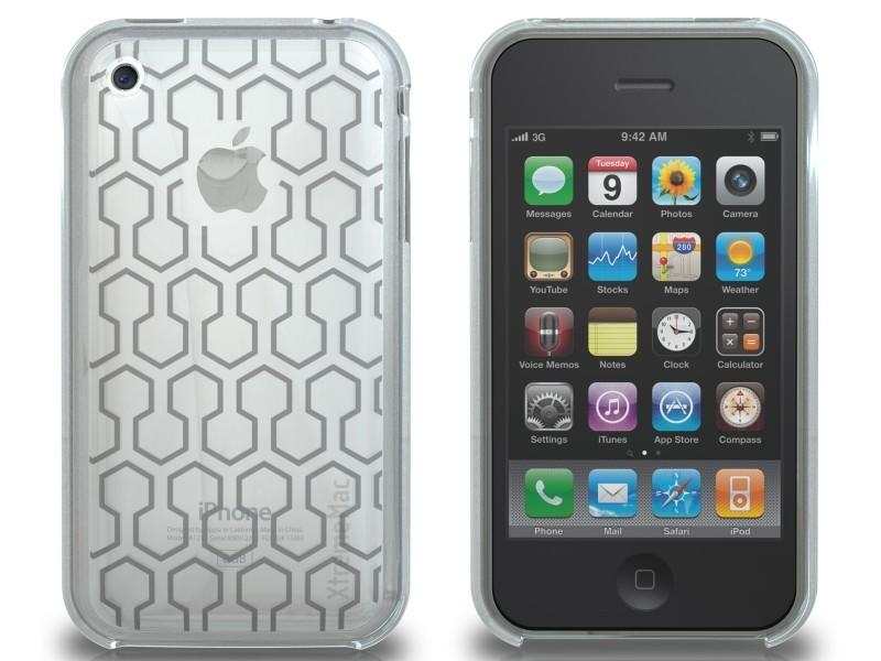 XtremeMac Microshield Tatu til iPhone 3G/3GS Inkl. Skærmfolie + Stand - Klar Hex