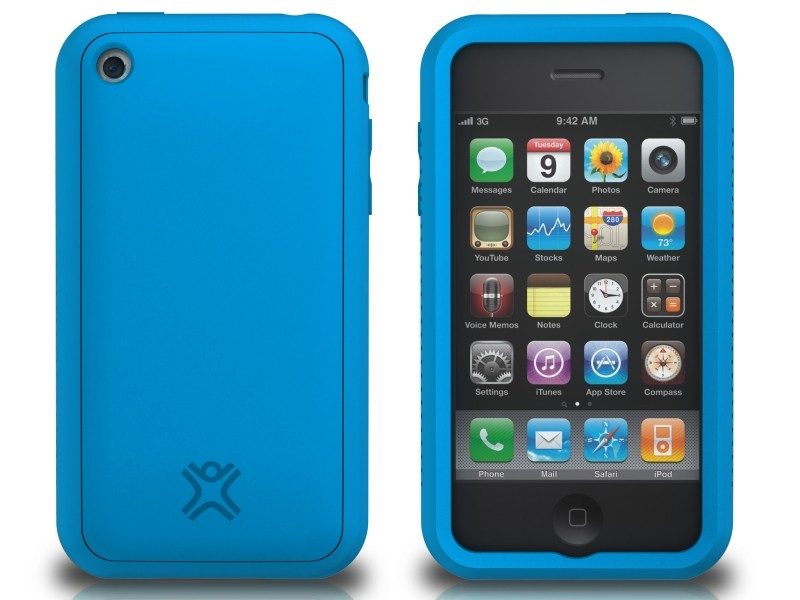 XtremeMac Tuffwrap til iPhone 3G/3GS Inkl. Skærmfolie - Blå