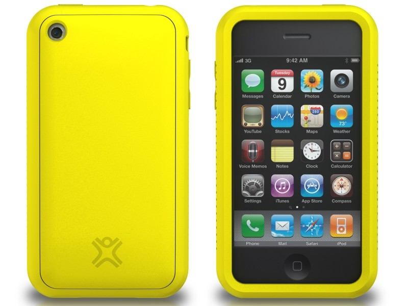 XtremeMac Tuffwrap til iPhone 3G/3GS Inkl. Skærmfolie - Gul