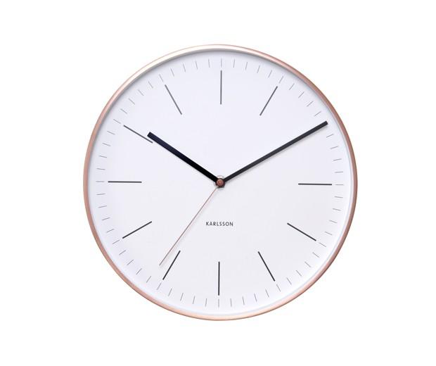 Karlsson Wall Clock Minimal - Hvid/Kobber 27,5 cm