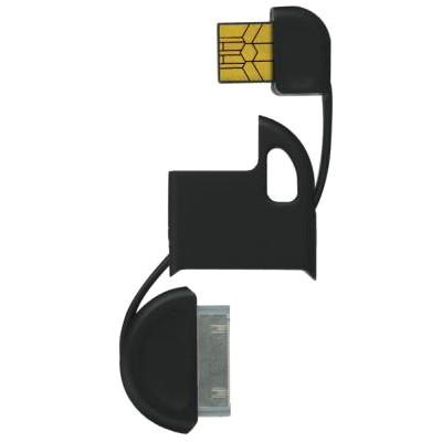 Nøglering Opladnings- og Synkroniseringskabel til iPod og iPhone - Sort