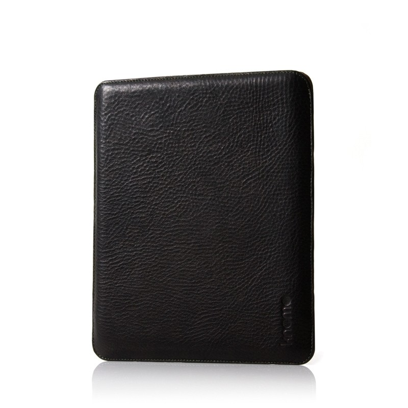 Knomo Leather Slim Sleeve til iPad - Sort