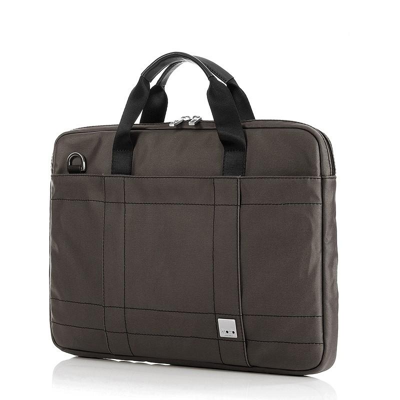 """Knomo Men's Lincoln Laptop Messenger Taske Small Op til 15"""" - Mørk Brun"""