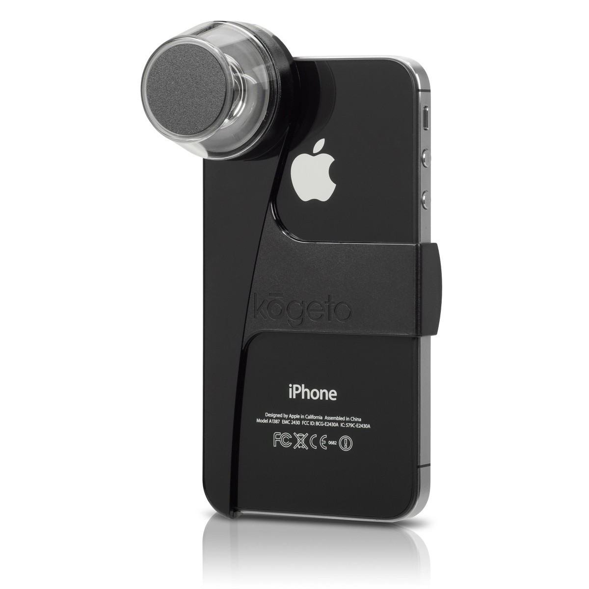 Kogeto Dot Panoramic Video Lens til iPhone 4 /4S - Sort