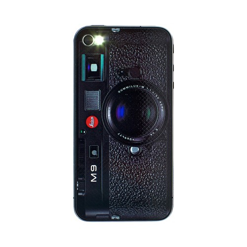 Leica M9 Kamera Sticker til iPhone 4/4S - Sort