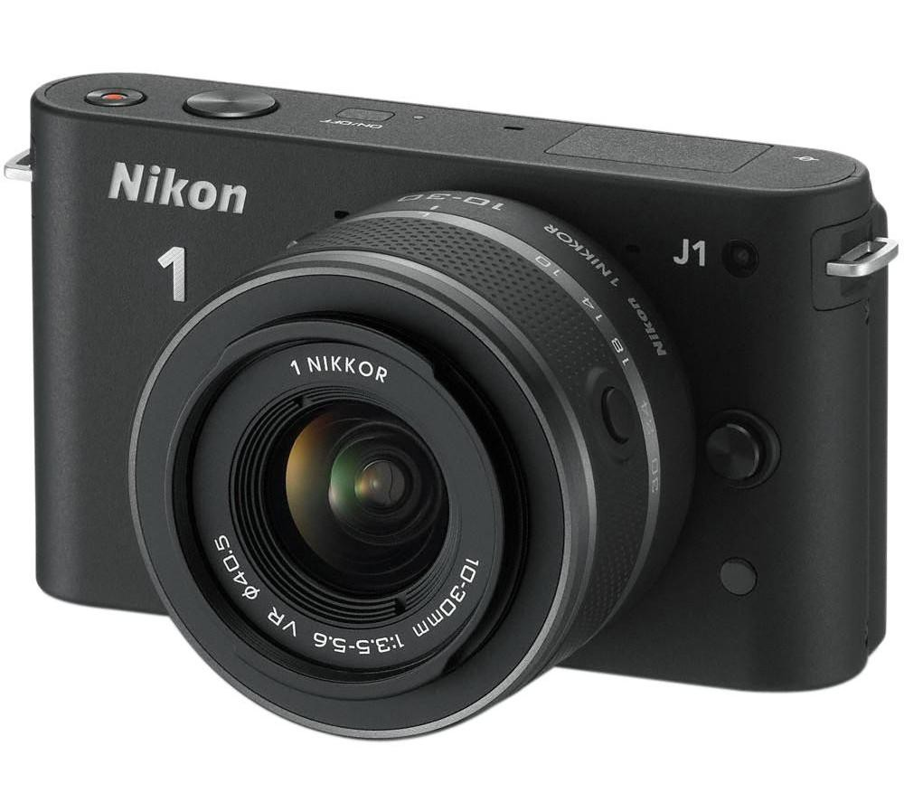 Nikon 1 J1 + 10-30mm VR - Sort