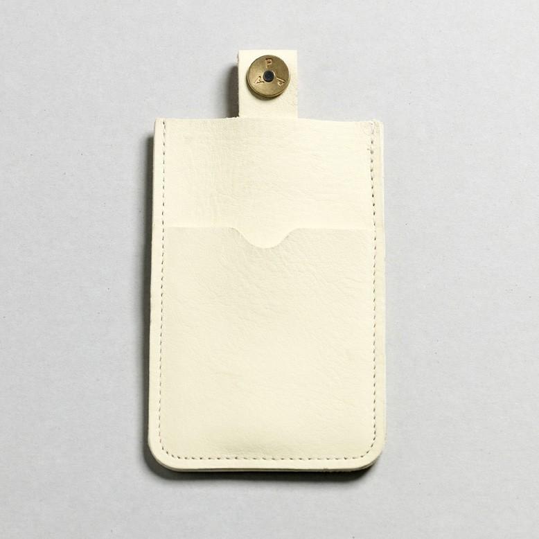 P.A.P Læder Etui m/ Kortholder & Neckband til Bl.a. iPhone - Hvid