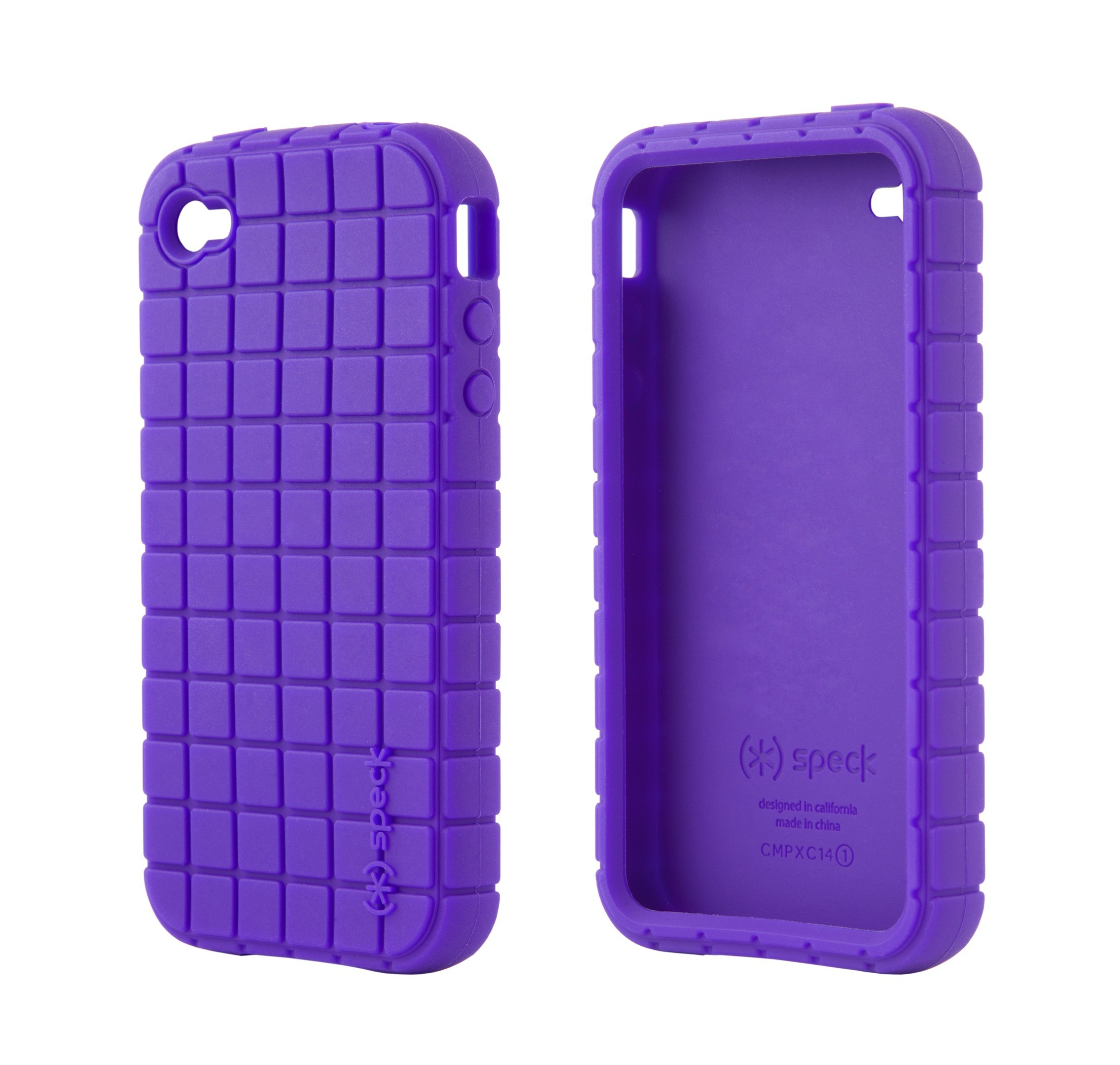 Pixel Silikone Cover til iPhone 4 - Lilla