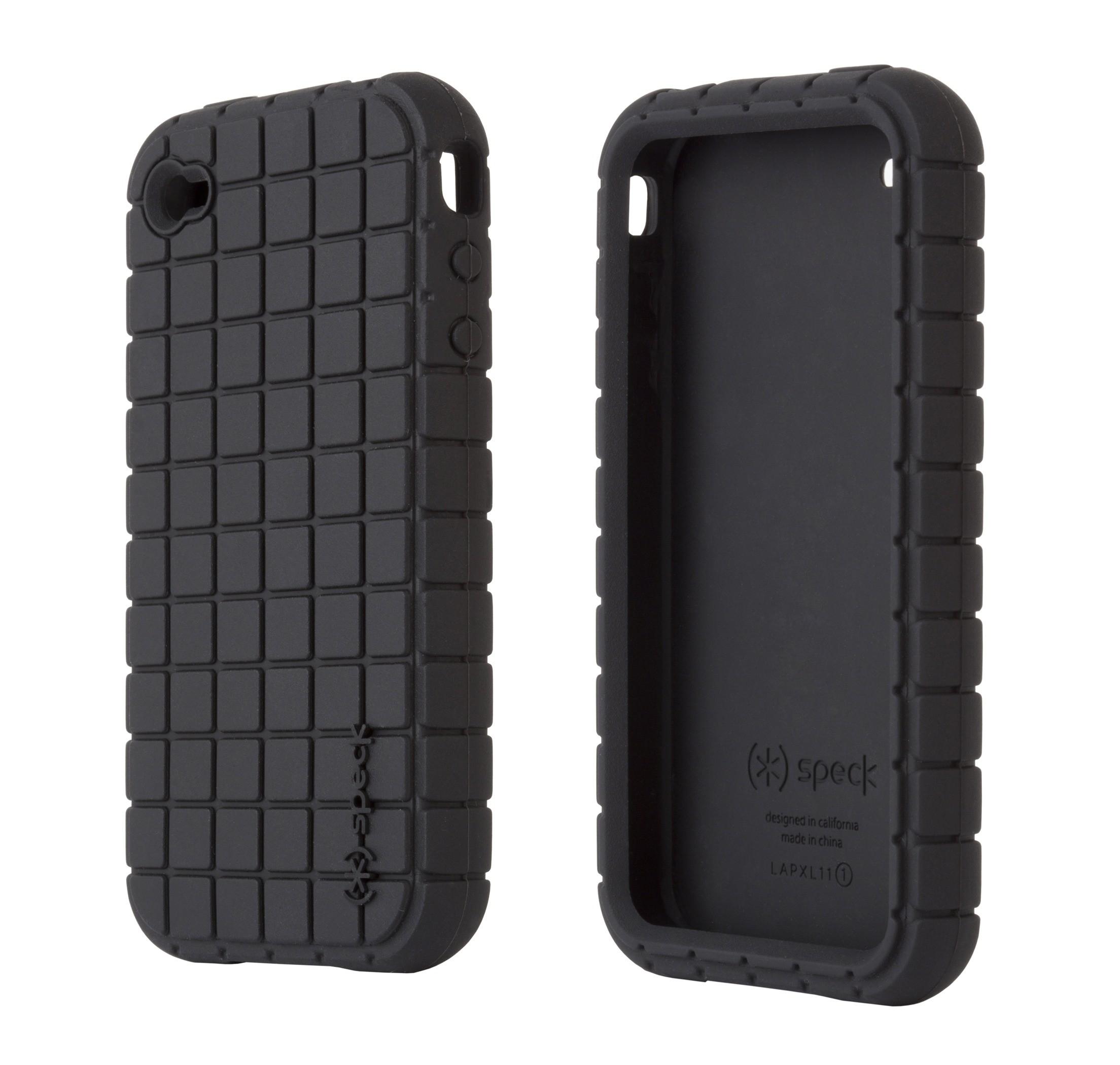 Pixel Silikone Cover til iPhone 4 - Sort