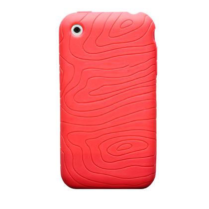 Tykt Gummi Cover til iPhone 3G/3GS - Rød