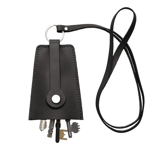 Sandqvist VAKTIS Leather Key Pouch - Sort