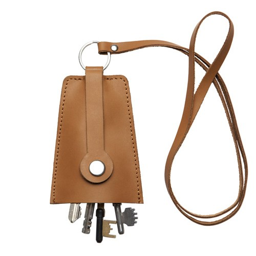 Sandqvist VAKTIS Leather Key Pouch - Brun