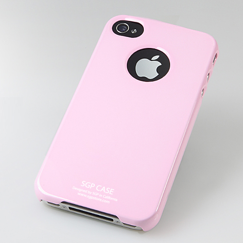 SGP iPhone 4 Case Ultra Thin m/ Screen Protector - Pink