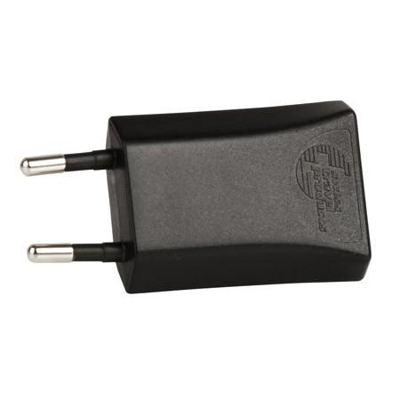 Skross Micro Oplader USB m/ EU Plug - Sort