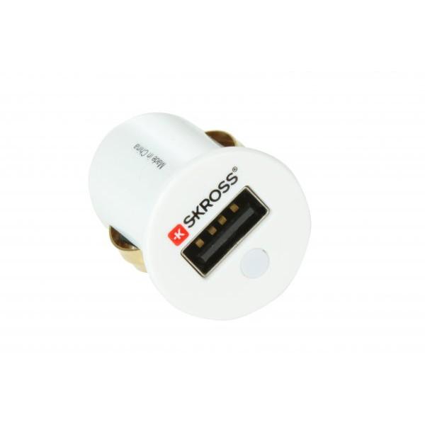 Skross Midget USB Cigar-tænder Oplader - Hvid